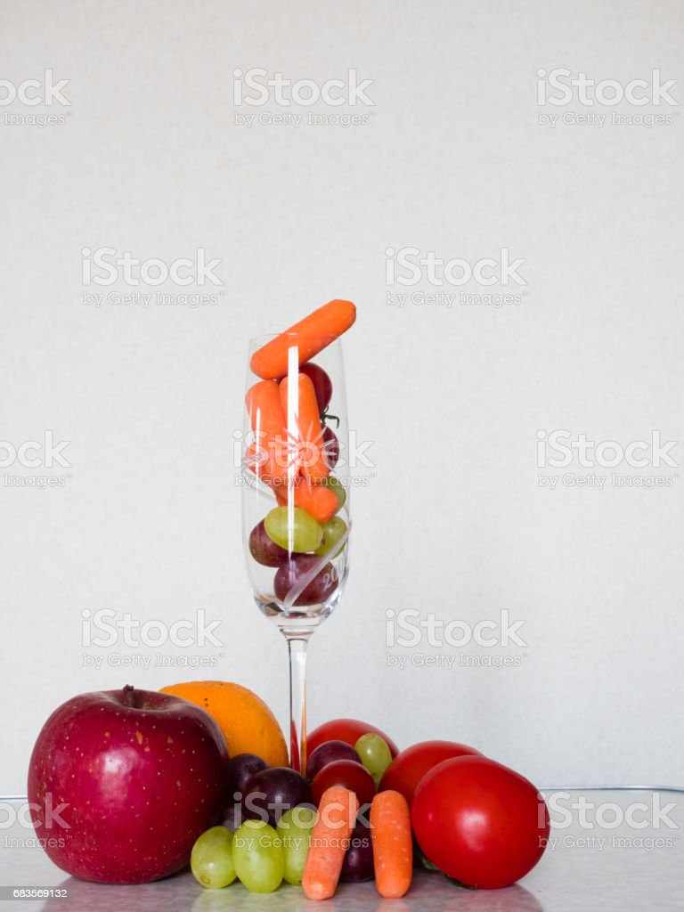 Vegetarian cocktail stock photo