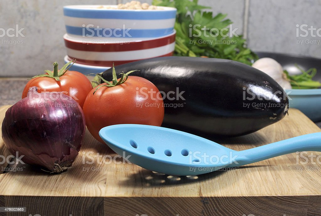 Vegetarian cooking concept Close up. royalty-free stock photo