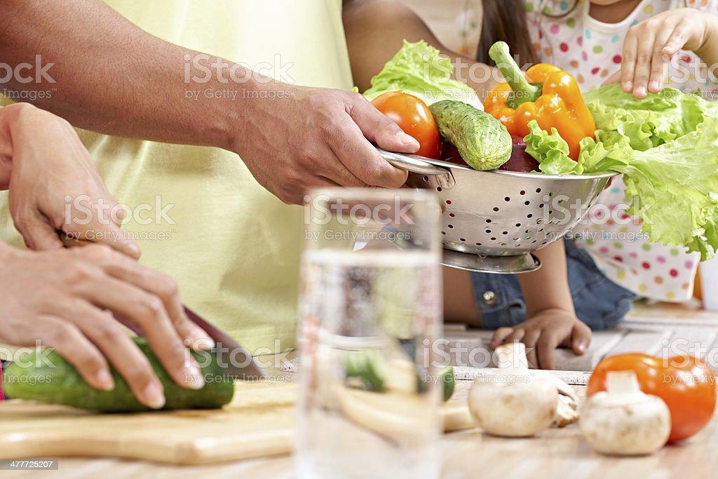 Vegetarian cooking stock photo