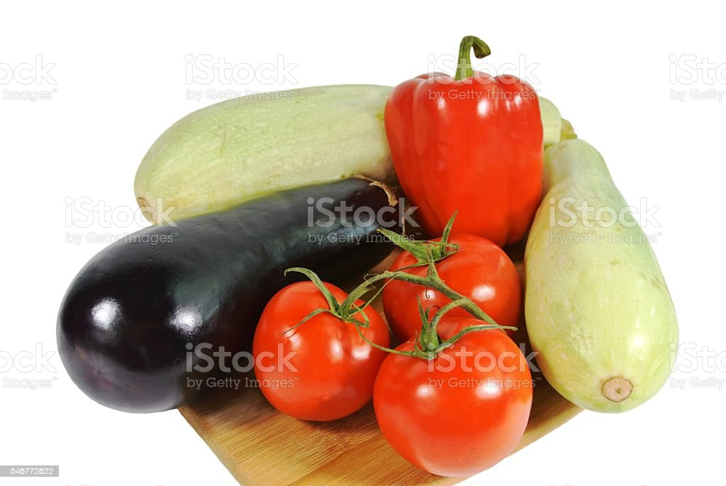 Vegetarian cuisine: vegetable set stock photo