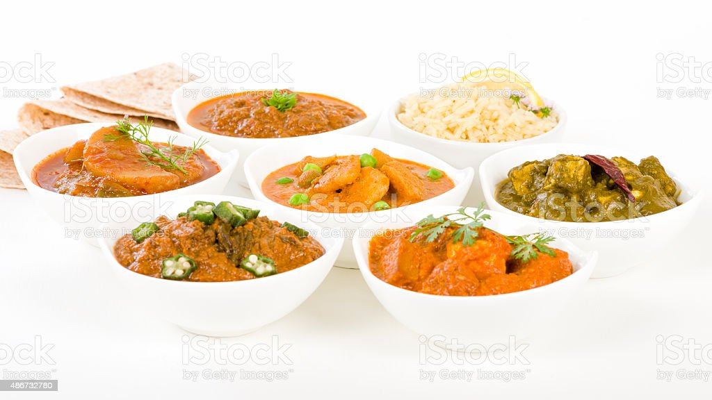 Vegetarian Curries stock photo