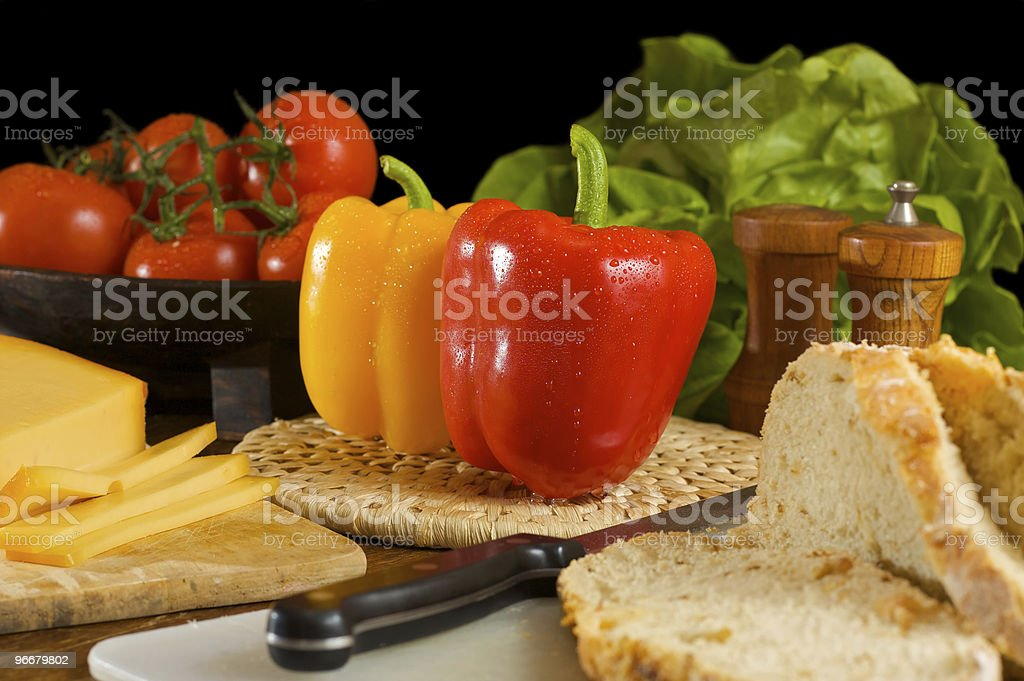 Vegetarian diner stock photo