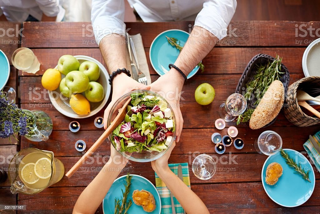 Vegetarian dinner stock photo
