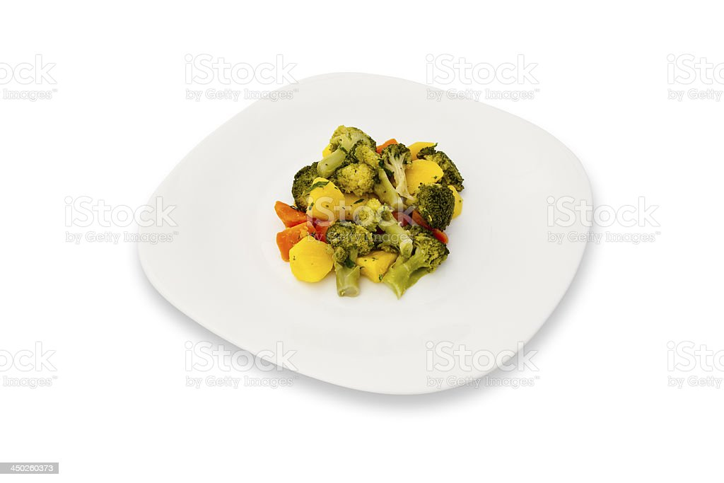 Vegetarian dish on a plate stock photo