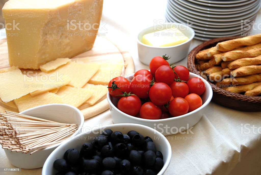 vegetarian food like cheese and olives royalty-free stock photo