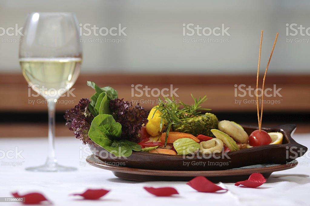 vegetarian food style stock photo