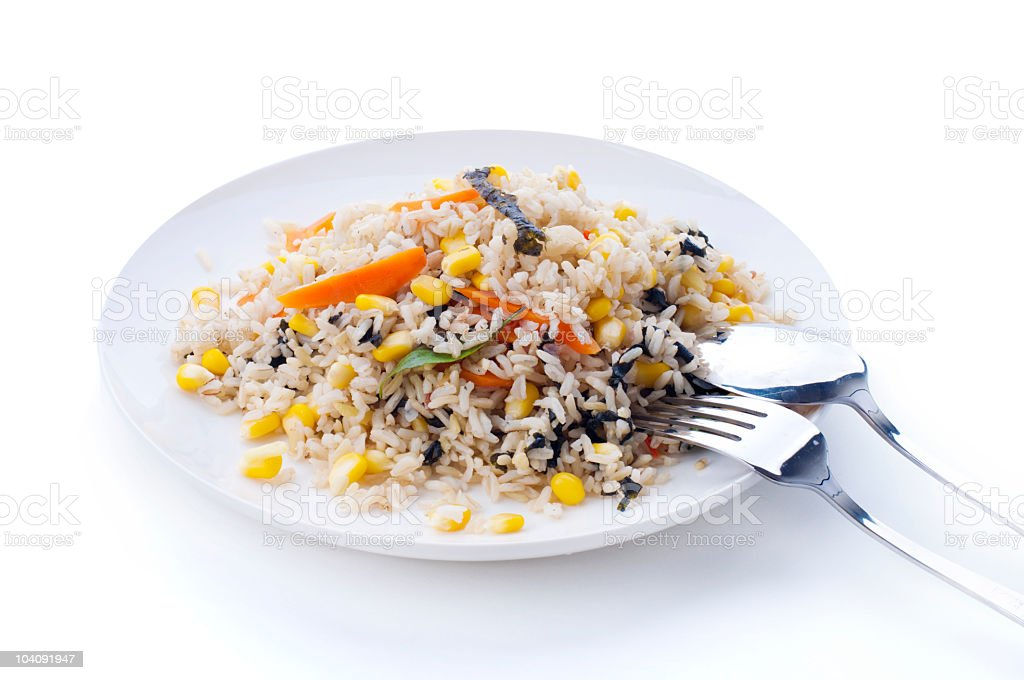 Vegetarian Fried Rice royalty-free stock photo