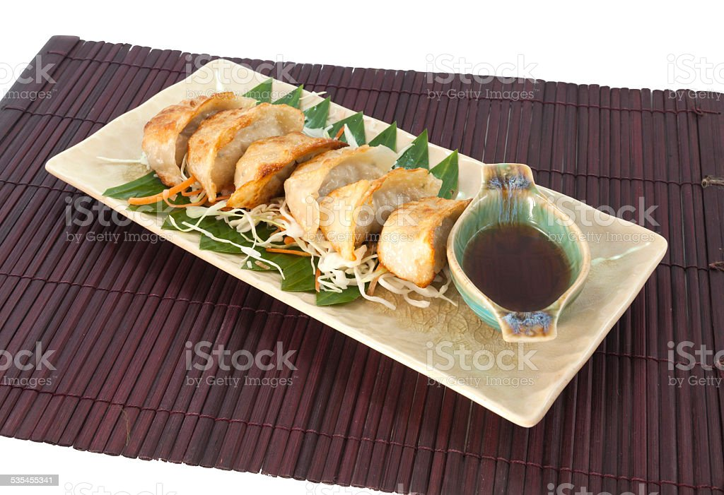 Vegetarian Gyoza royalty-free stock photo