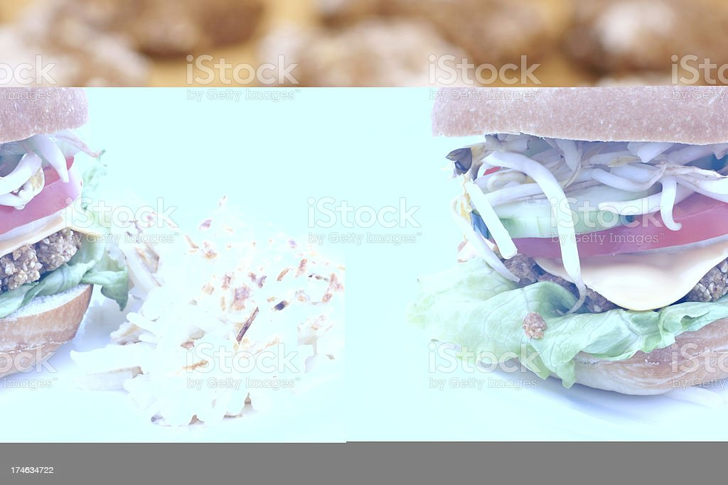 vegetarian hamburger royalty-free stock photo