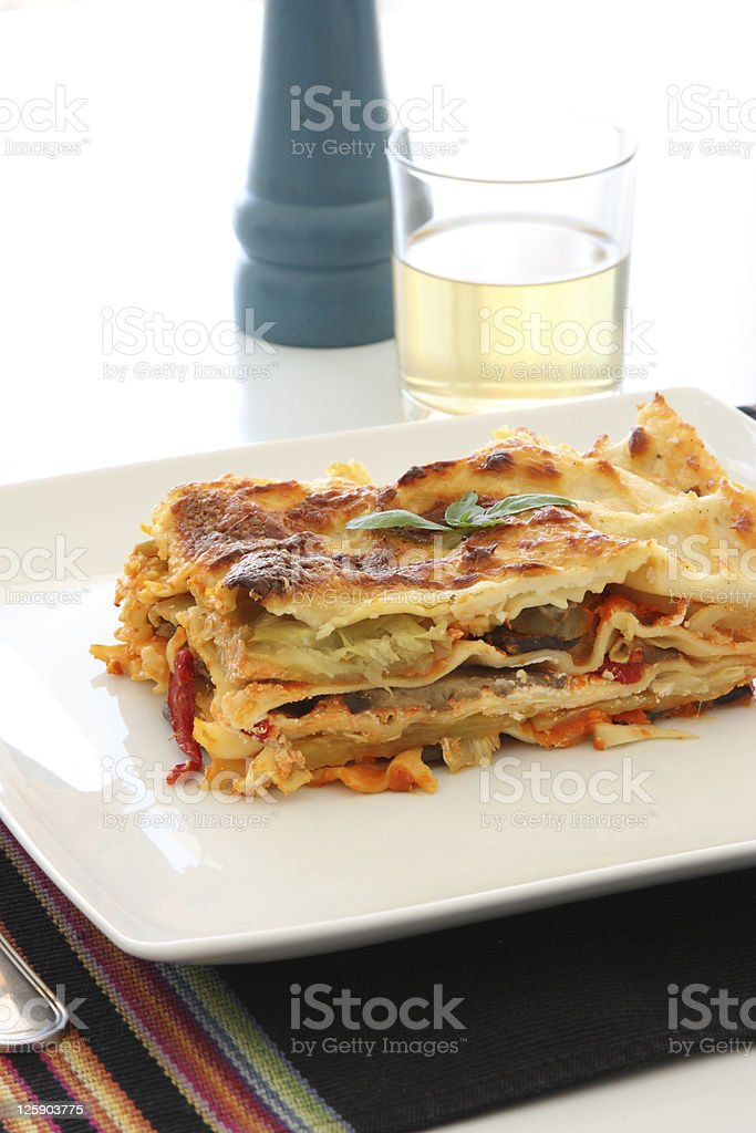 Vegetarian Lasagna stock photo