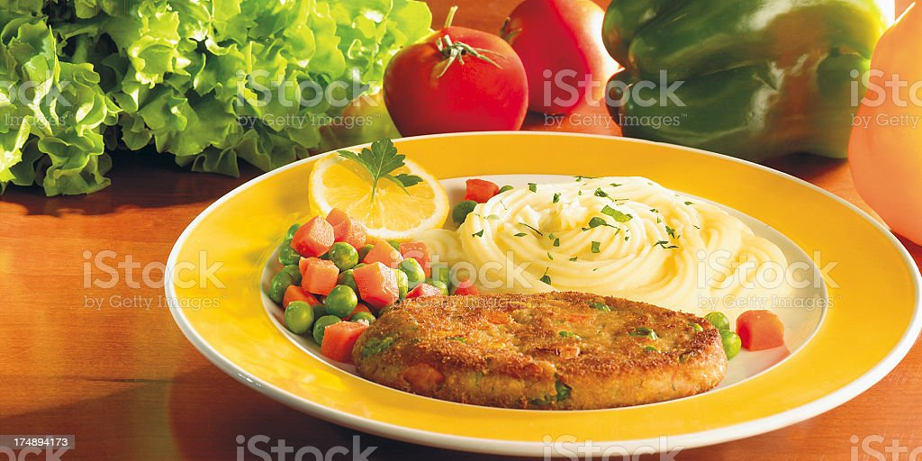 Vegetarian meal royalty-free stock photo
