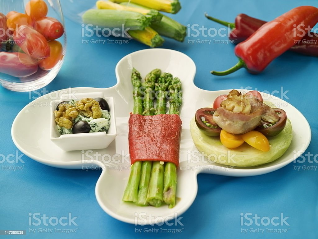Vegetarian menu stock photo