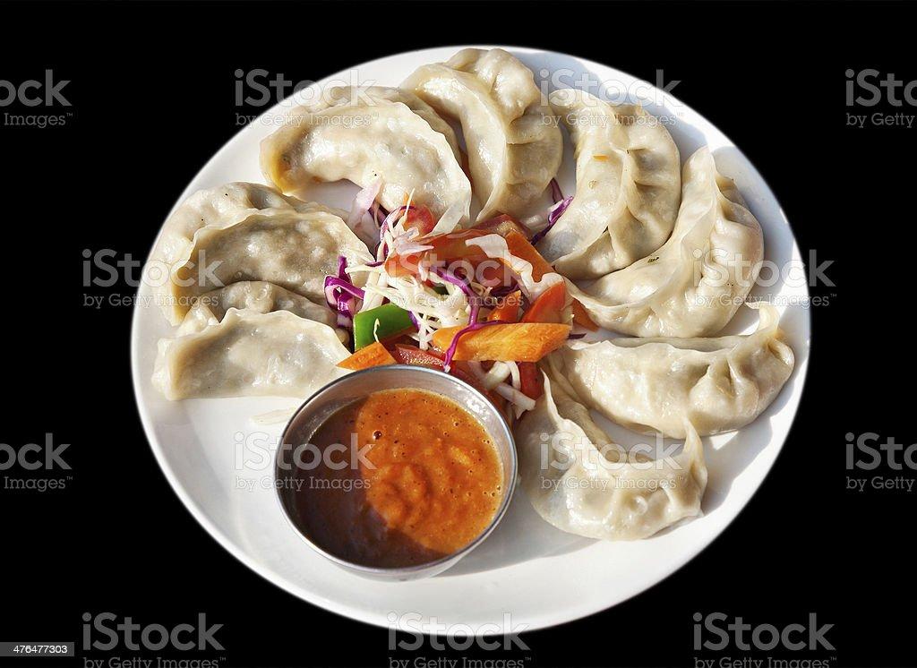 Vegetarian Nepalese momo royalty-free stock photo