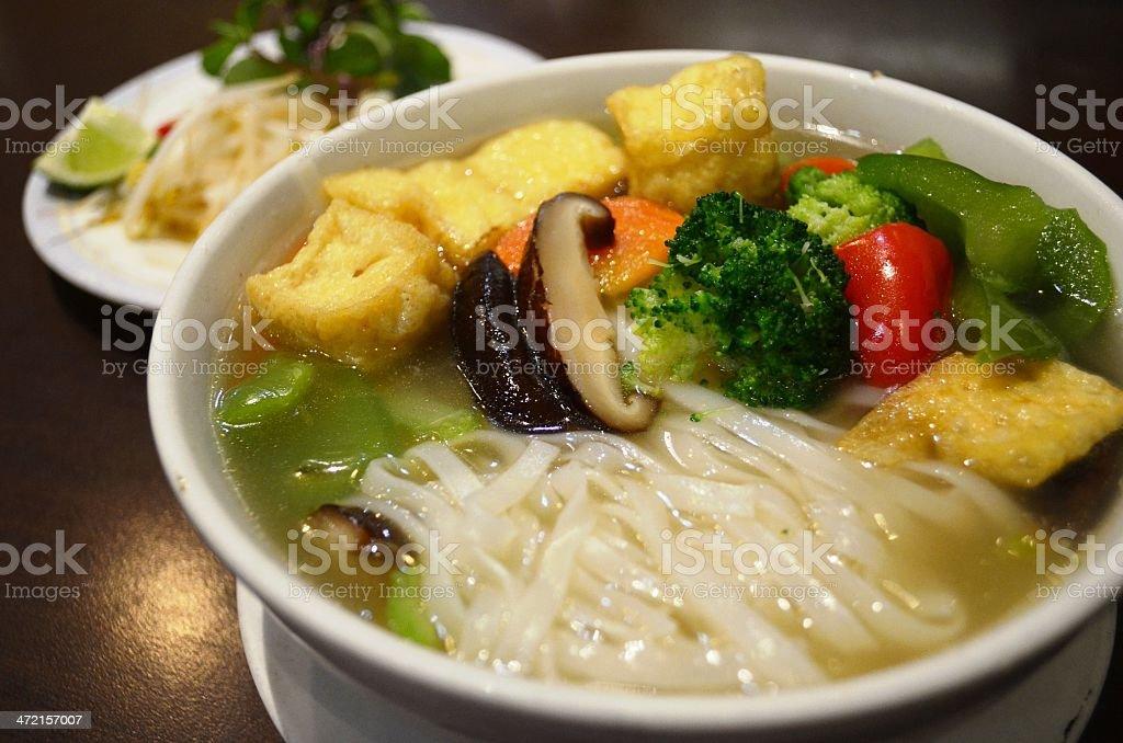 Vegetarian noodles royalty-free stock photo