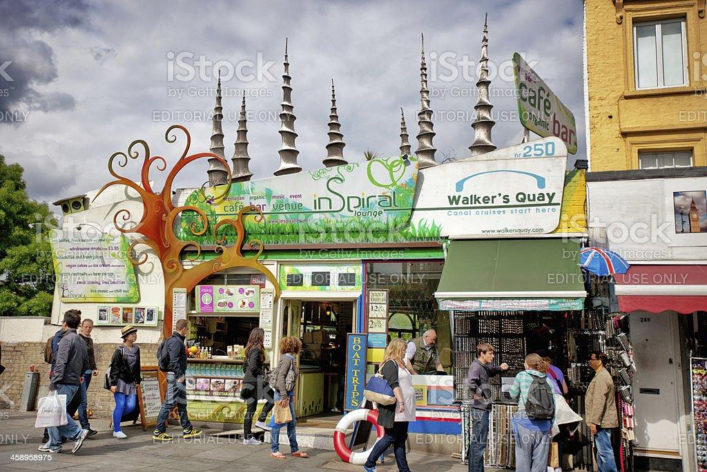 Vegetarian Organic Cafe Bar in Camden Town, London stock photo