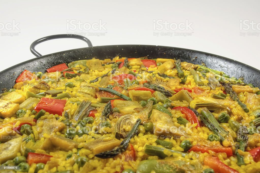 Vegetarian Paella - Spanish rice royalty-free stock photo