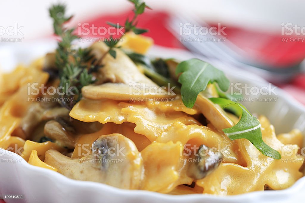 Vegetarian pasta dish stock photo