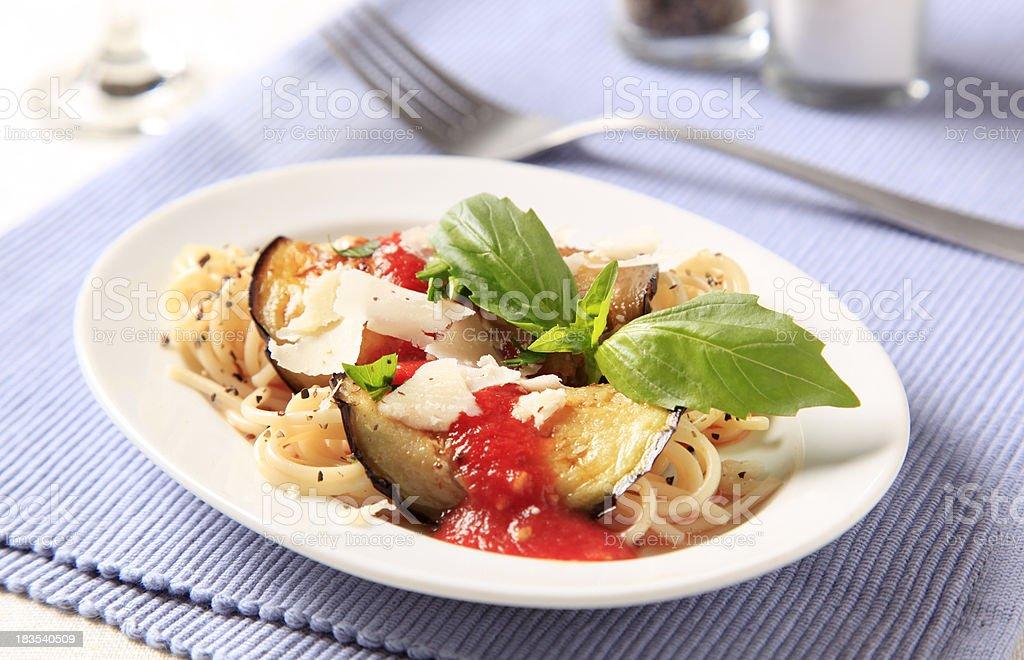 Vegetarian pasta dish royalty-free stock photo