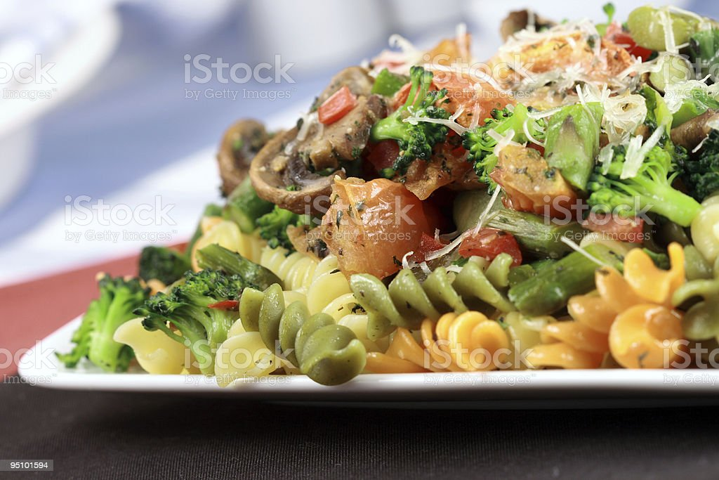 vegetarian pasta stock photo
