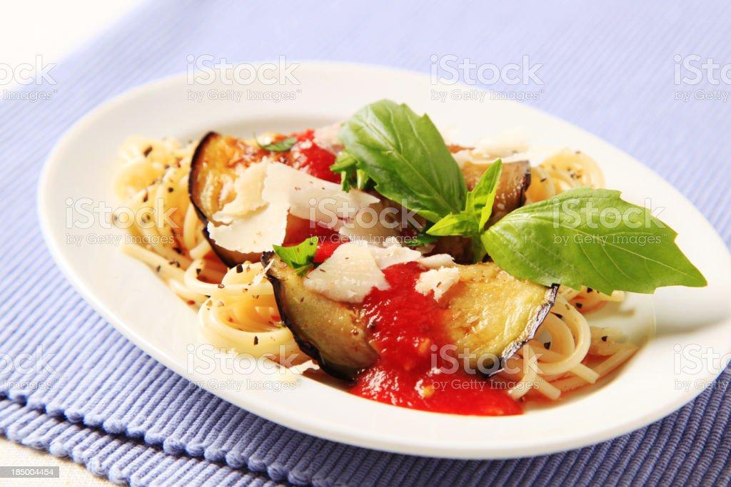 Vegetarian pasta recipe royalty-free stock photo