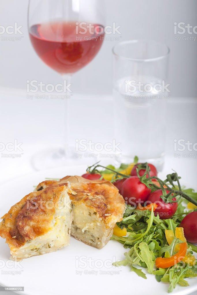 Vegetarian pie stock photo