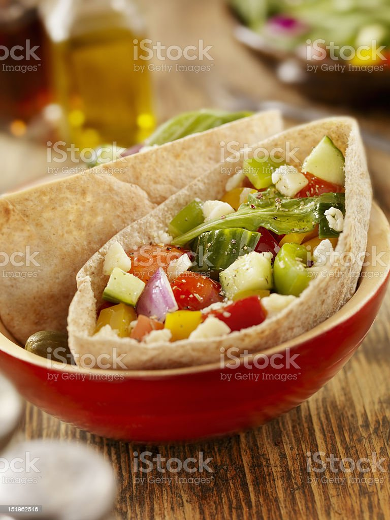 Vegetarian Pita Pocket royalty-free stock photo