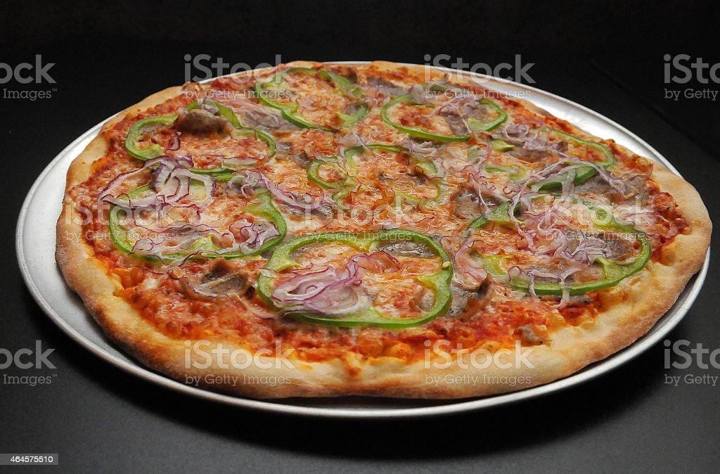 Vegetarian Pizza Beginning stock photo