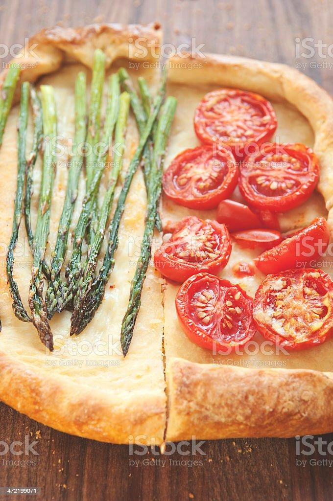 Vegetarian Pizza royalty-free stock photo