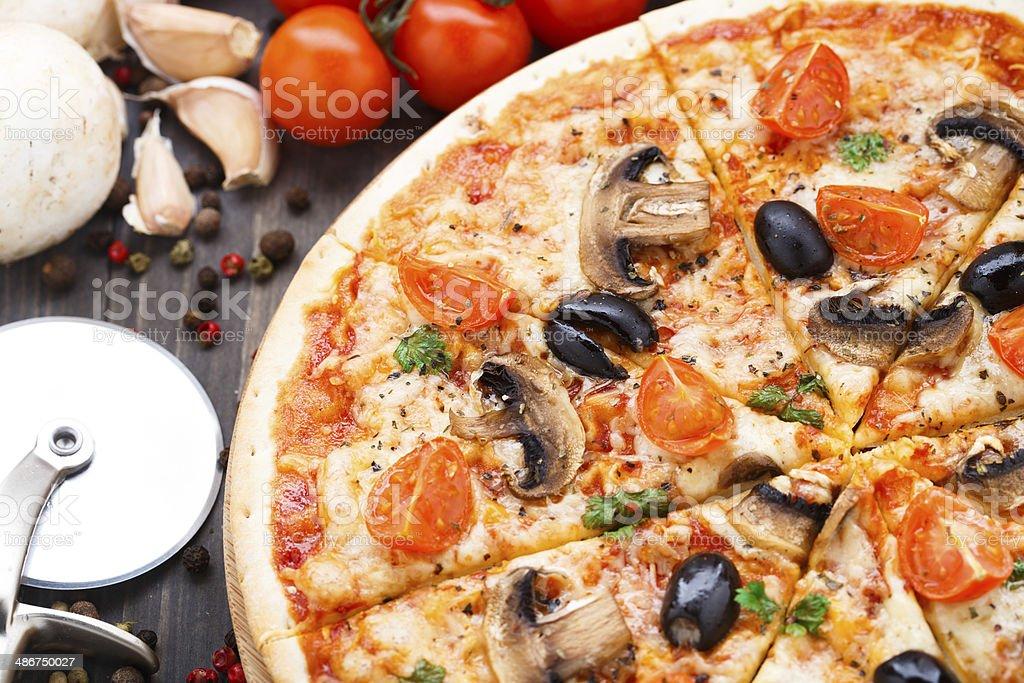 Vegetarian pizza stock photo