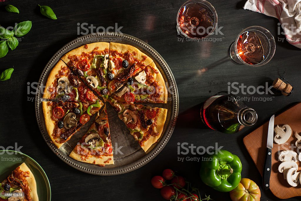 Vegetarian Pizza stock photo