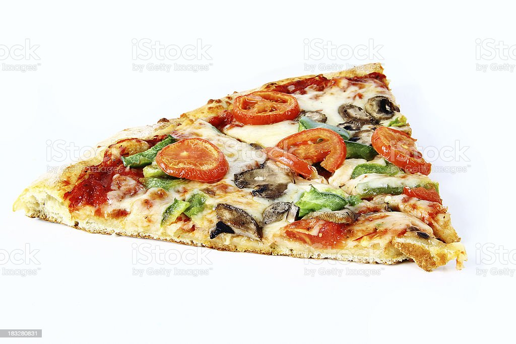 vegetarian pizza slice royalty-free stock photo