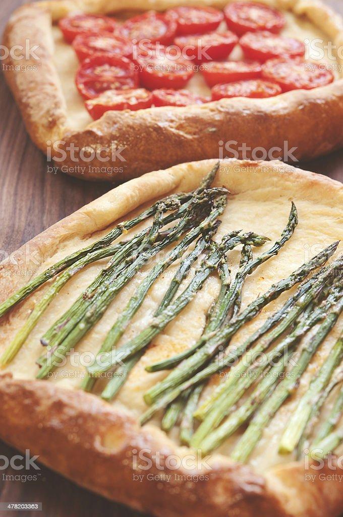 Vegetarian Pizzas royalty-free stock photo