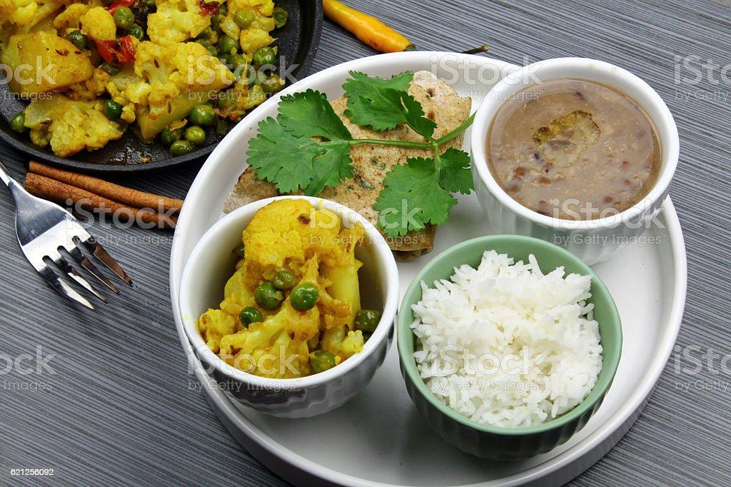 Vegetarian platter stock photo