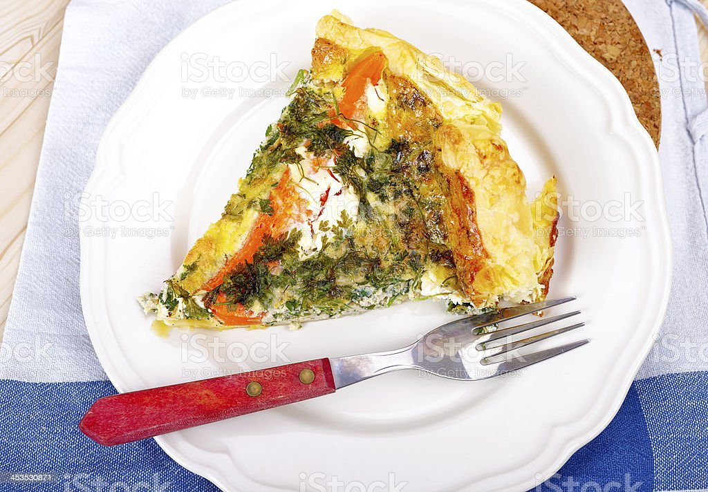 Vegetarian quiche royalty-free stock photo