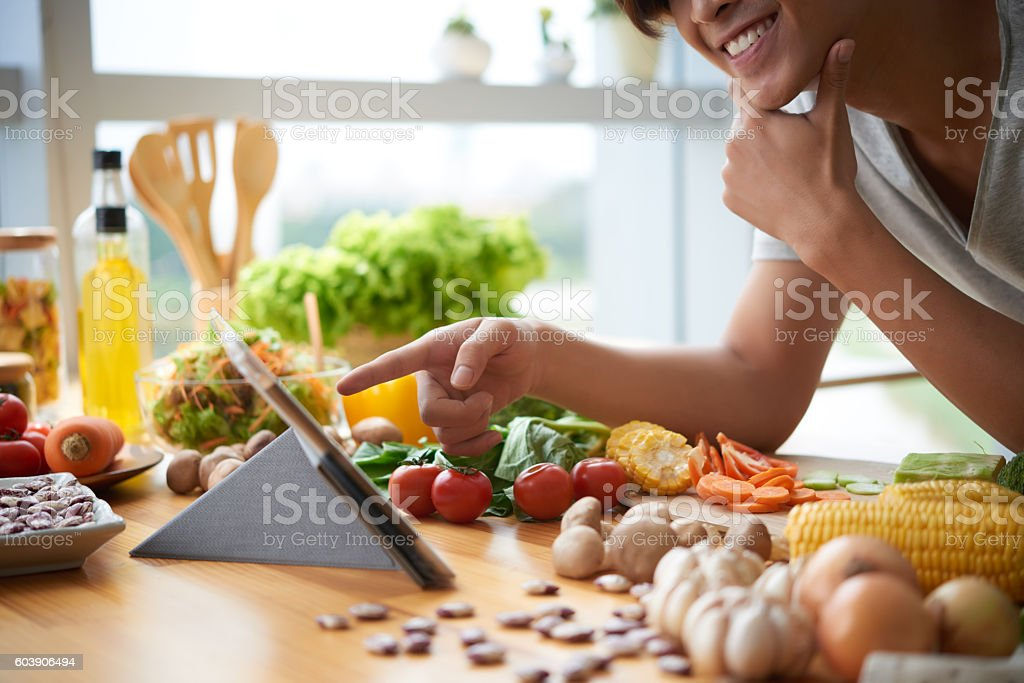 Vegetarian recipe stock photo
