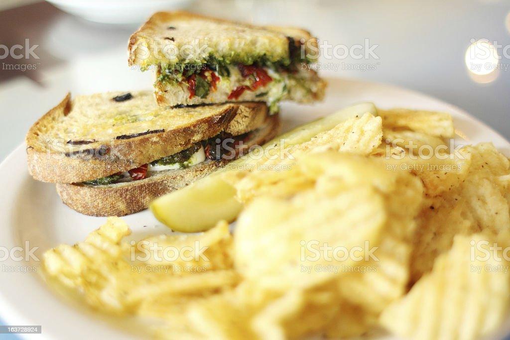 Vegetarian sandwich royalty-free stock photo