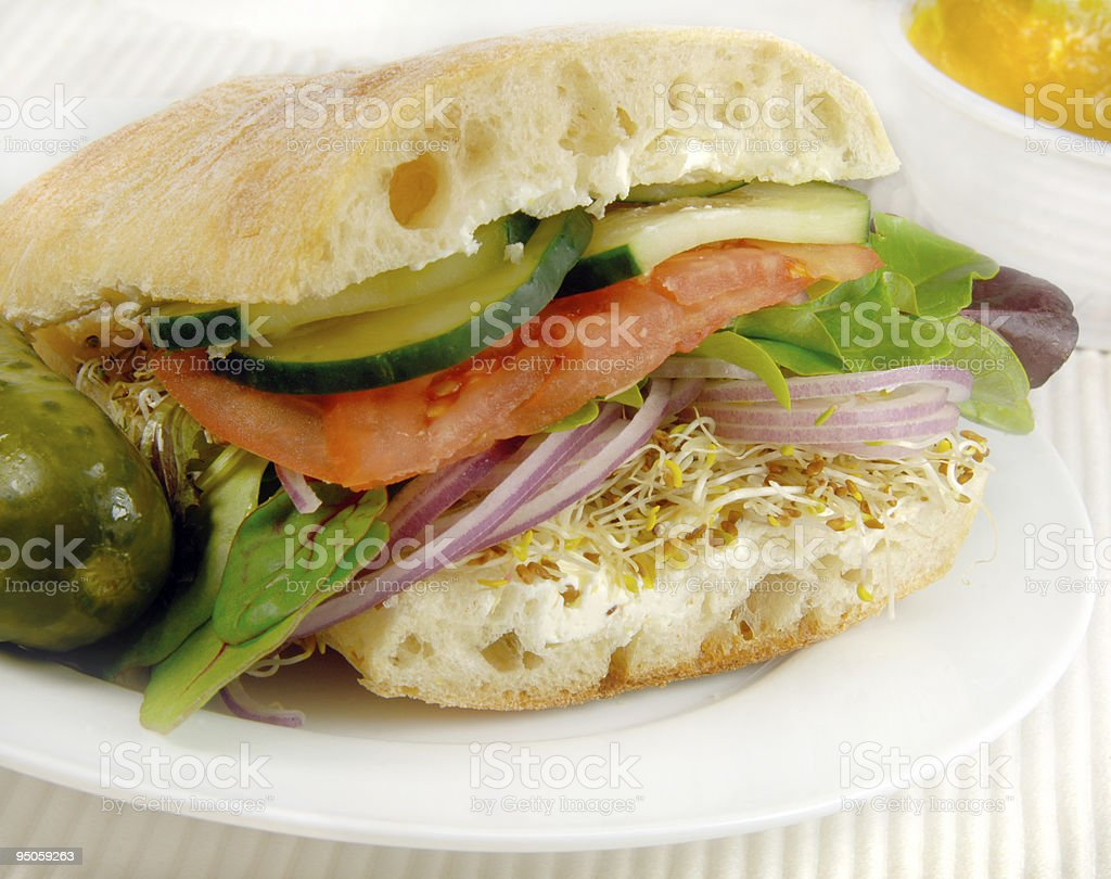Vegetarian Sandwich royalty-free stock photo