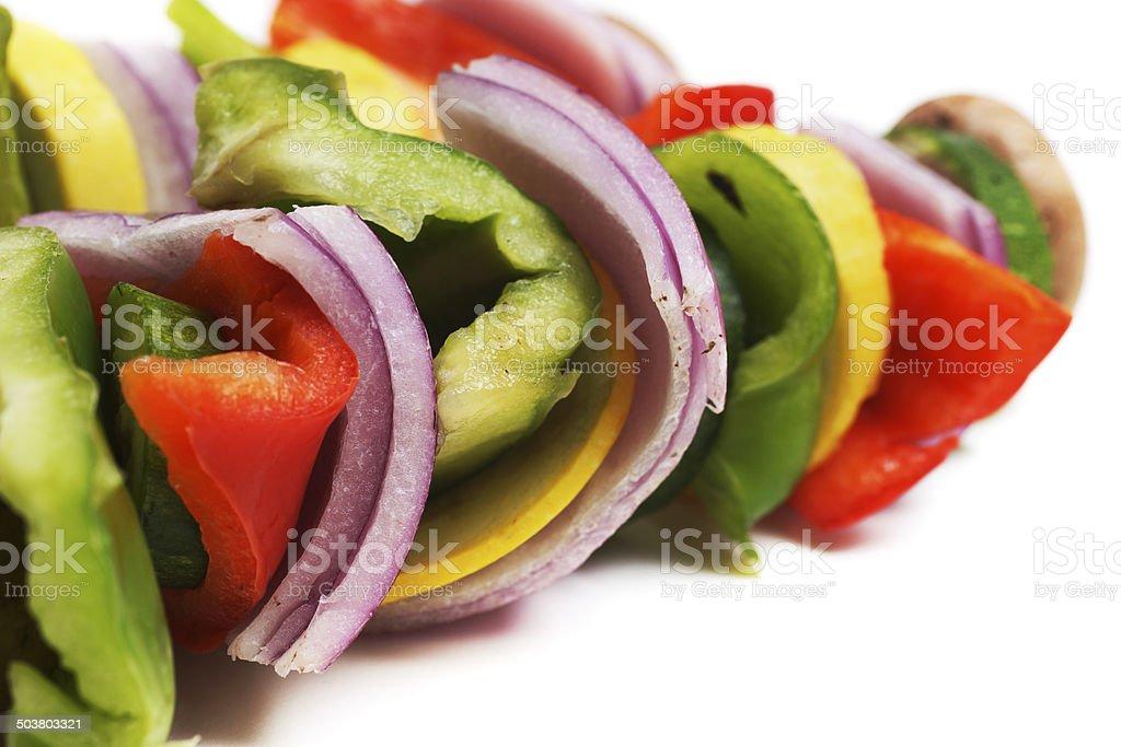 Vegetarian Shiskabob stock photo