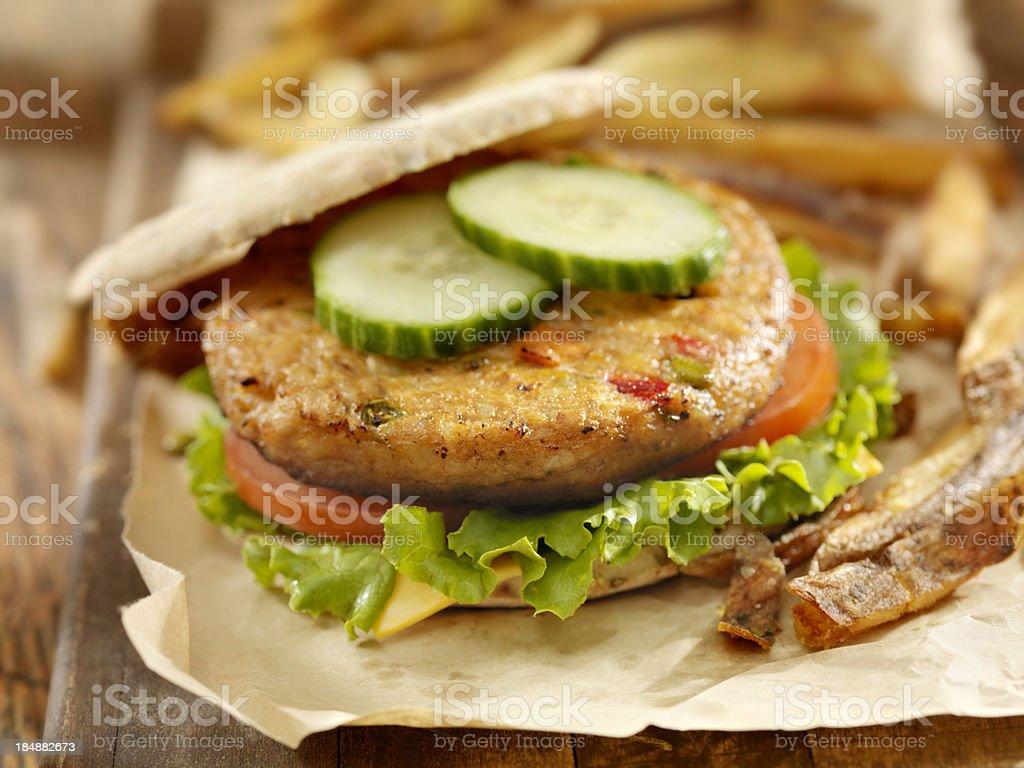 Vegetarian Soy Burger royalty-free stock photo
