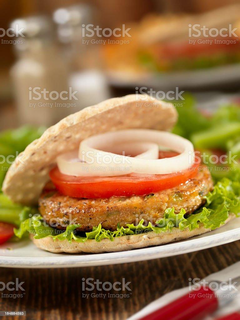 Vegetarian Soy Burger stock photo