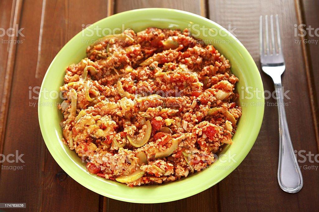 Vegetarian stew royalty-free stock photo