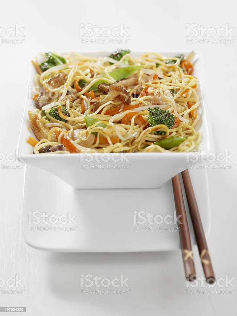 Vegetarian Stirfry with Noodles stock photo