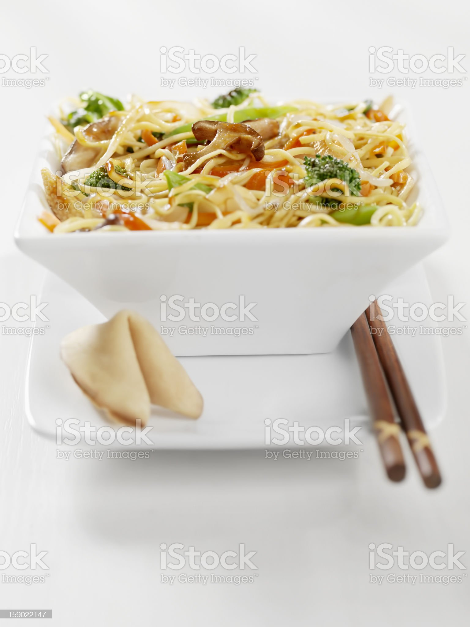 Vegetarian Stirfry with Noodles royalty-free stock photo