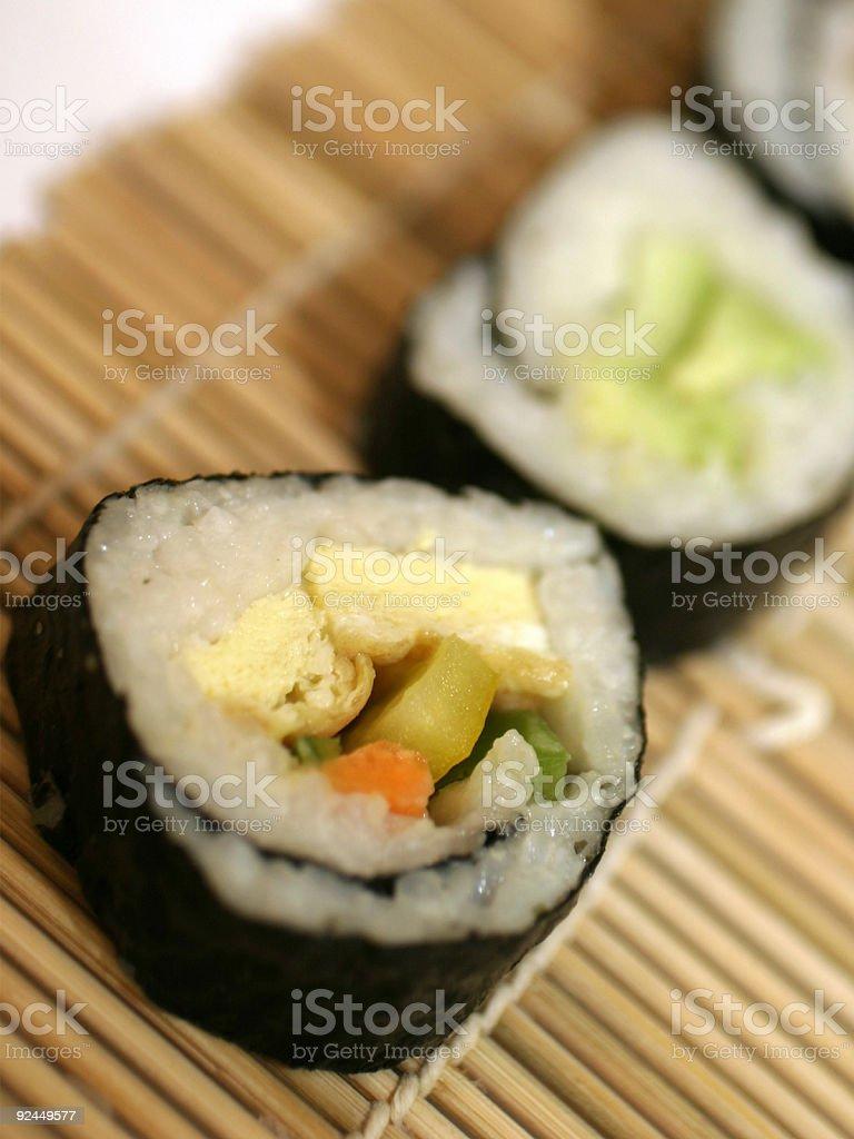 Vegetarian sushi royalty-free stock photo
