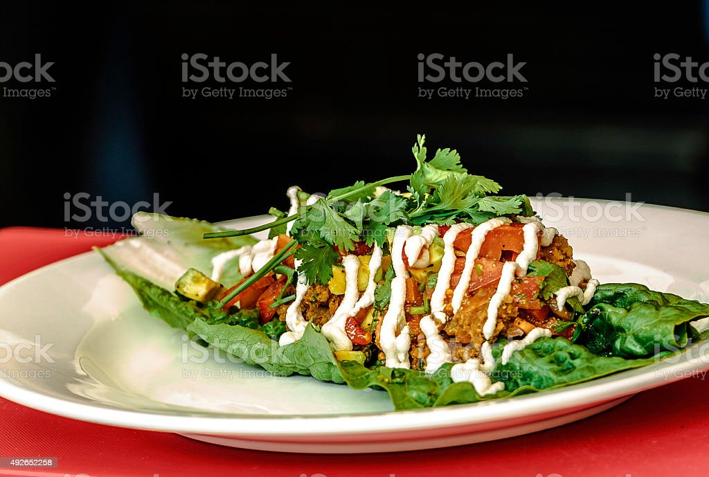 Vegetarian Taco stock photo