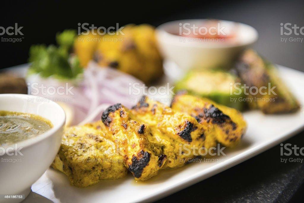 Vegetarian Tandoori Appetizer Platter stock photo