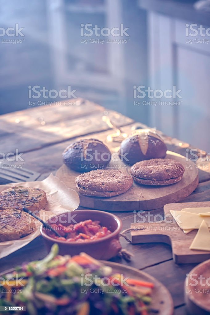 Vegetarian Tofu Burger stock photo