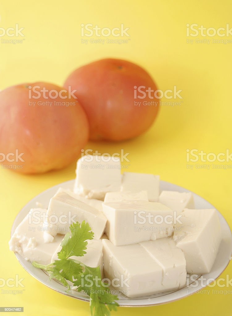 vegetarian tofu royalty-free stock photo