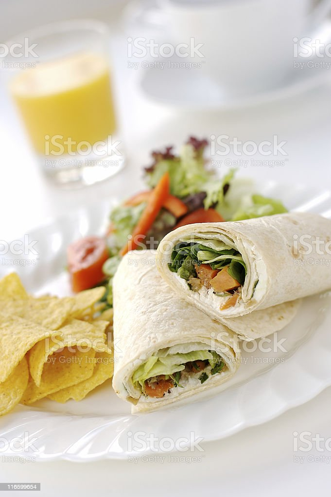 Vegetarian Tortilla Sandwich royalty-free stock photo