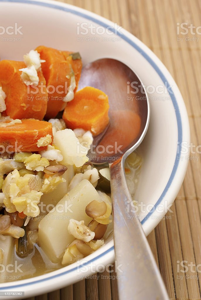 vegetarian vegetable soup stock photo